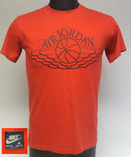 Vintage 1980s Nike Blue Tag Air Jordan 1 Wings NBA Basketball T-Shirt Size Med