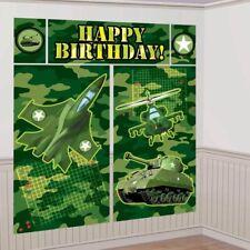 CAMO SCENE SETTER Camouflage Birthday Party Decorations Army Backdrop Jet Tank