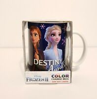 Official Disney Frozen 2 Color Change Mug With Figures Anna, Elsa, And Olaf