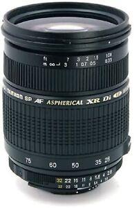 TAMRON Zoom Lens AF09C-700 Full Size SP AF28-75mm F2.8 XR Di For Canon EF NEW