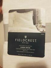 """Linen Euro Pillow Sham - Fieldcrest - Lightweight - 26x26"""" SourCream- New"""