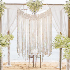Macrame Wall Hanging Tapestry Room Home Door Window Curtain Wedding Backdrop