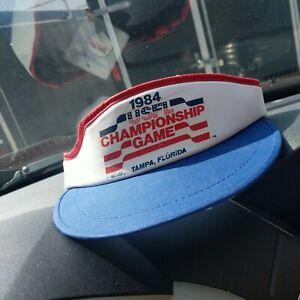 Vintage 1984 USFL Championship Game Tampa Fl Adjustable Visor Hat NWT