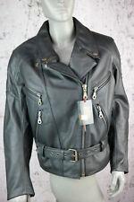 Ixs Blouson Moto, Leder- Veste, Cuir Véritable, Noir, Taille Femmes L,Neuf