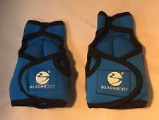 Beachbody Weighted Sculpting Gloves Hand Wrist Weights Blue Fitness