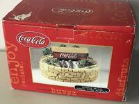 Coca Cola Brand Covered Bridge Summer Scene Fountain Light Up In Box Brand New