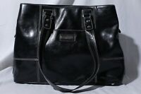 Franklin Covey Heritage Travelware 737510 Black Faux Leather Tote Purse Bag