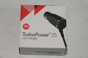 Motorola CHR-0548 TurboPower 25 Rapid Charge Car Charger, 25W Dual Port