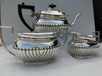 Lovely Vintage Queen Anne Silver Plate Tea Set 3 Piece