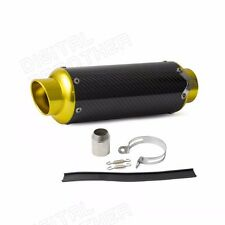 Carbon Fiber CNC Exhaust Muffler Pipe Gold For Street Sport Racing motorcycles