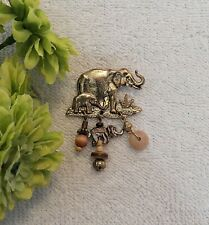 Tent African Pachyderm Trunk Dangles Ds3 Pin Brooch Elephant And Baby Circus