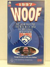 1997 WOOF THE YEAR THAT PUT THE BITE INTO THE BULLDOGS~FOOTSCRAY~ AFL VHS VIDEO