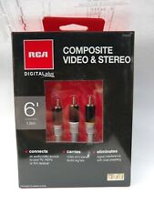 6 Foot Rca A/V Cables -Composite video & Stereo Audio- Free Ship