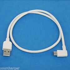 0.5M USB 2.0 A to C Right Angle Data Charger Cable WHITE for LG V30 G6 V20 G5