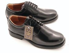 Herren Schwarz Leder Gibson Schuhe Schnürschuhe Größe UK 7