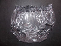 ADULT BABY SEE THROUGH  PLASTIC PANTS FANCY DRESS SISSY LOLITA