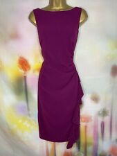 COAST STUNNING PURPLE FRILL ELEGANT PENCIL FORMAL DRESS SIZE 16