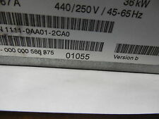 SIEMENS,P/N 1P 6SN1111-0AA01-2CA0,LINE FILTER, FOR I/R, 36kW