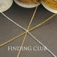 Free ship 50m 2mm Brass Chain Round Link Chains Necklace Jewelry Finding