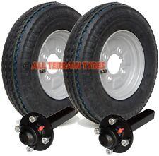 "4.80/4.00-8 4 Ply Road Trailer Kit Wheels & Tyres Hubs & Stub Axles 4"" PCD 400x8"