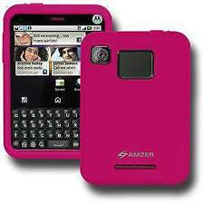 Amzer Hot Pink Silicone Jelly for Motorola Charm Mb502