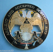 Masonry 32nd Degree Cut Out Car Emblem Scottish Rite Auto Rear Emblem Masonic
