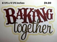 Baking Together Title girl boy scrapbook premade paper piecing by Rhonda