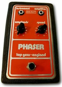 Top Gear-England Phaser Guitar Effect Pedal Rare Made in UK 1977 Vintage 1970's