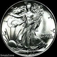 1943 Walking Liberty Silver Half Dollar ~ BU Uncirculated ~ US Coin