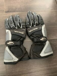 Richa Leather race gloves Grey/Silver & White