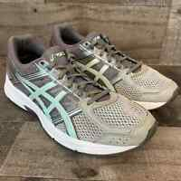 Asics Womens Gel Contend 4 T765N Gray Silver Running Shoes Lace Up Size 10