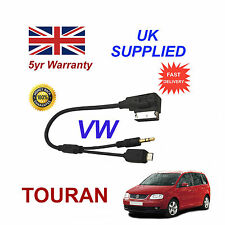 VW TOURAN Micro USB & 3.5mm Aux input Audio Cable For Samsung HTC LG MP3 Nokia S