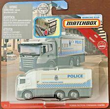 Matchbox 2019 Working Rigs MBX Rescue Scania Tactical Truck #GBK01 1:64 Scale