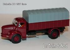 Camion Berliet type GLR8 baché rouge grenat éch HO 1/87 éme BREKINA SAI 2622