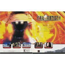 Squaresoft FINAL FANTASY IX PlayStation PS1 videogame two-page magazine print ad