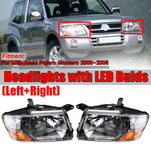 For 2000-2006 Mitsubishi Pajero Montero Left+Right Set Front Head Lamps