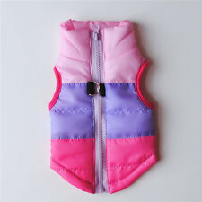 Winter Warm Cotton Puppy Dog Vest Coat Pet Zip Jacket For Small Dogs Costumes