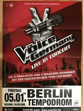 VOICE OF GERMANY 2018 BERLIN - orig.Concert Poster - Konzert Plakat A1 F/N