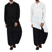 Men/'s Muslim Abaya Jubba Saudi Kaftan Long Sleeve Formal Party Long Robe Thobe