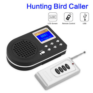 Hunting Bird Caller Animal Singing Device Molle Loud Speaker Display LCD Battery