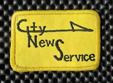 "CITY NEWS SERVICE EMBROIDERED PATCH NEWSPAPER SOUTHERN CALIF UNIFORM 3"" x 2"""