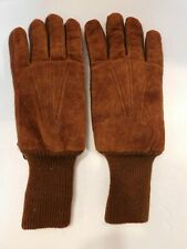 DESIGNER MENS BROWN SUEDE WINTER GLOVES THINSULATED LINING  SIZE L / XL