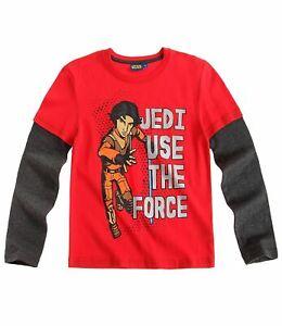 Star Wars Rebels Langarmshirt T-Shirt Rot Gr.116,128,140,152