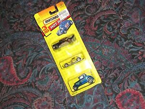 Vintage Matchbox Car RARE Hot Rods 3-pack SEALED 57 Chevy Corvette COOL SET!