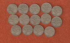 14 Dfferent King George V five cent coins includes 1926 N6 all nice coins M97