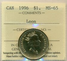 1996 Canada Loon Dollar ICCS MS-65