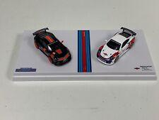 1/64 Nuria Porsche Martini 911 GT2 RS and 911 Club Sport Martini Racing Set