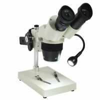 20X 40XMobile Phone Repairing PCB Soldering Stereo Binocular Microscope with LED