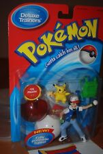 Pokemon Deluxe Trainers #25 Pikachu and Ash Hasbro Fully Poseable Figure NIB