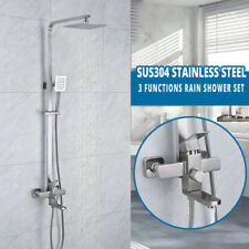 10inch SUS304 Stainless Steel Rain Shower Set with Spray Faucet